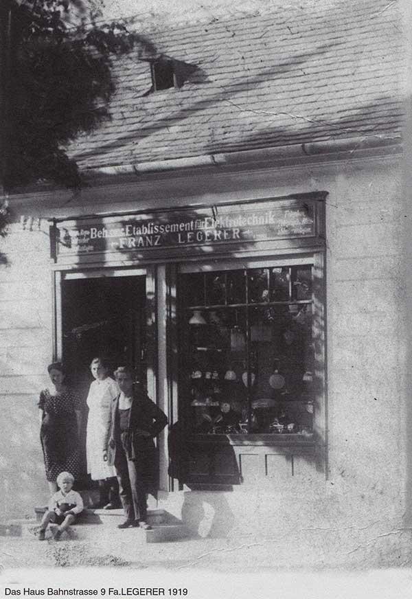 Haustechnik Legerer im Jahr 1919